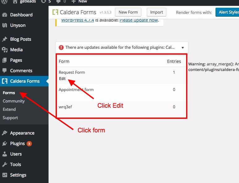 Caldera form redirection to thank you page – XpeedStudio